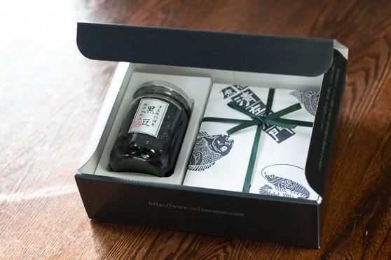 黒豆と贅沢茶漬・杉箱