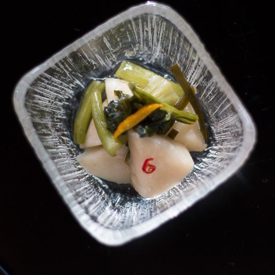 小カブと柚子のピクルス