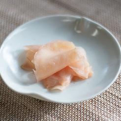 有機新生姜の甘酢漬け