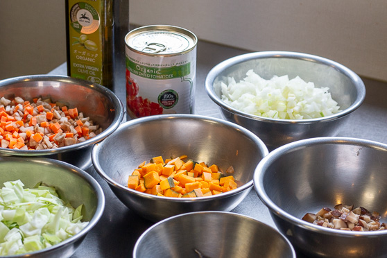野菜スープの原材料